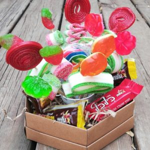 Candy Flowers Kosher Gift Basket