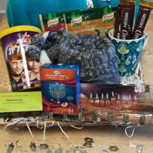 Chanuka Winter Warmer – Fleece, socks, mug, hot drinks, Chanukia and candles.