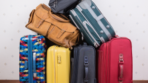 Picture of suitcases stacked